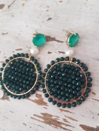 Emerald oorbellen