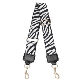 Tas strap zebra zwart/wit