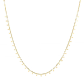 Ketting star goud, stainless steel