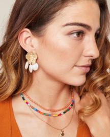 Bohemian pearl oorbellen
