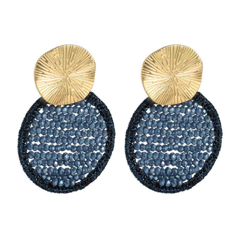 Style in bleu oorbellen