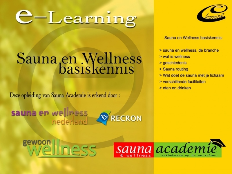 Sauna en Wellness basiskennis E-learning (bedrijven 3-pack)