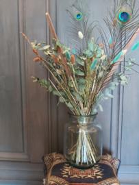Droogbloemen boeket in vaas