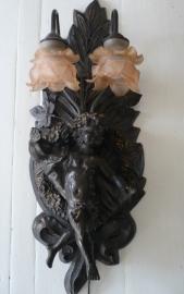 Barok engelen/ cherubijn lamp