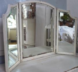 Brocante drieluik spiegel