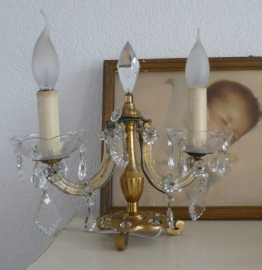 Mooie staande kristal lamp VERKOCHT