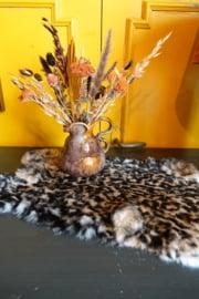 Konijnen vel met luipaard print