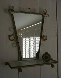 Spiegel met planchet Verkocht