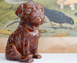 Vintage porselein hond bloembakje