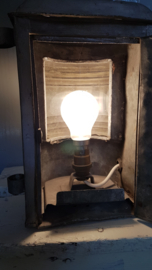 Oude industriële lamp