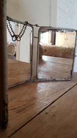 Franse drieluik spiegel