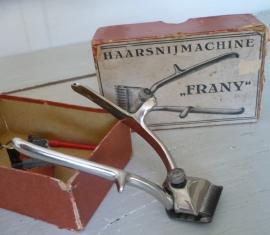 """Oude haarsnijmachine """"Frany"""" VERKOCHT"""