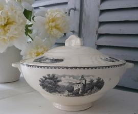 Dekschaal Societe Ceramique Maestricht Landschap