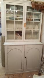 Oude Franse vitrine servies kast