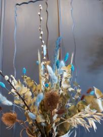 Droogbloemen boeket Aquarius