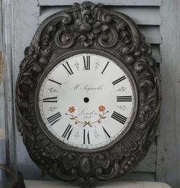 Oud klok paneel / wijzerplaat