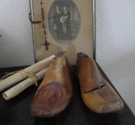 Houten schoenen leest