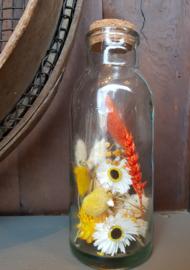 Droogbloemen in fles
