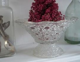 Brocante glazen schaal