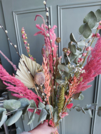 Droogbloemen boeket Pink