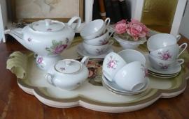 Brocante thee serviesje VERKOCHT