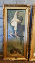 Oude portretten set, Hondje en de teckel
