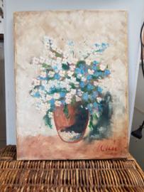 Oude bloemenprent