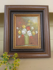 Olieverf bloemen schilderij