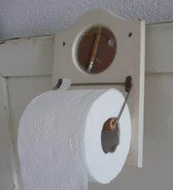 Brocante toiletrolhouder VERKOCHT