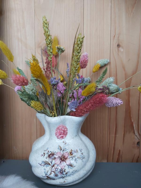 Vintage bloemenvaasje compleet