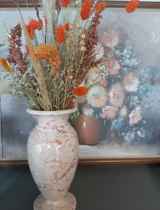 Droogbloemen in vintage vaas