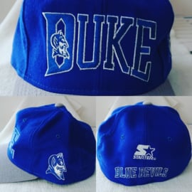 VINTAGE 90S STARTER DICHT MODEL PET ( NIEUW ) DUKE BLUE DEVILS  7 3/8