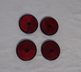REFLECTOR SET ( ROOD ) ( 4 REFLECTOREN )