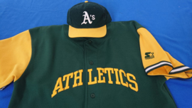 VINTAGE 90S STARTER SET PET+JERSEY ( LICHT GEBRUIKT ) OAKLAND ATHLETICS