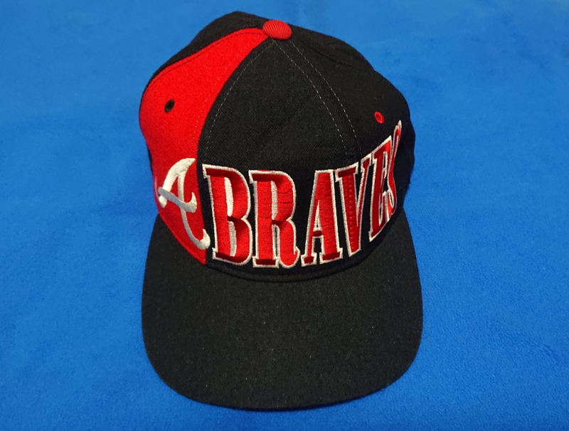 VINTAGE 90S STARTER TRI POWER PET ( LICHT GEBRUIKT ) ATLANTA BRAVES