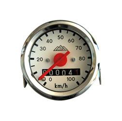 KM TELLER WIT 100 KM/H V NEUSLICHT ( VDO 1 OP 1 )OP BESTELLING )
