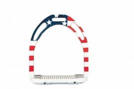 HKM Aluminium Stijgbeugel 'Flag', Amerika