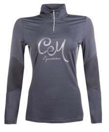 ** Cavallino Marino Eventing Shirt 'Piemont Sequins'  Limited Edition, maat XL