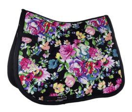HKM Zadeldek 'Black Flower', Limited Edition
