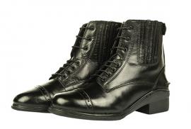 HKM Leren Jodphur schoenen, 'Profi', Veter- en ritssluiting