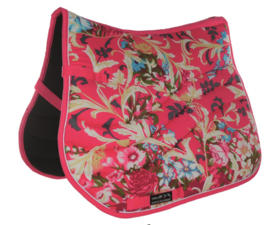 HKM Zadeldek 'Pink Floral', Limited Edition