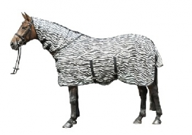 ** HKM Vliegendeken met hals 'Zebra'