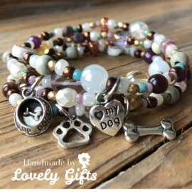 Dog Lover - Armband Lovely Colours