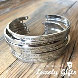 Dog Lover - Armband I 🖤 my english cocker spaniel