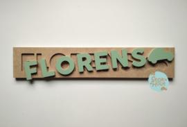 Naampuzzel 6-8 letters. Bijv. 'Florens'