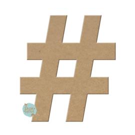 MDF figuur: Hashtag (M038)