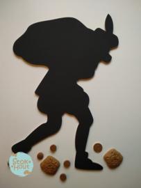 Krijtbord `Zwarte Piet` 50cmx6mm | Koopjeshoek