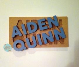 Naampuzzel 9-11 letters. Bijv. 'Aiden Quinn'