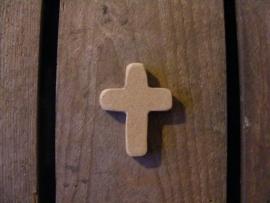 Houten kruisje 5cm groot