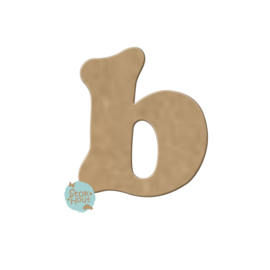 MDF Letter 'b' 10cmx6mm | Koopjeshoek
